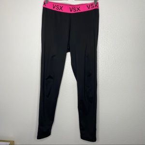 Victoria Secret Sport VSX Logo Black High Rise